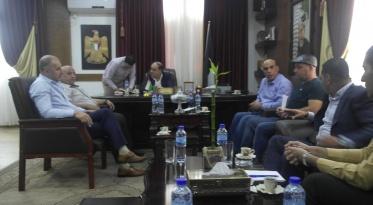 زيارة مجلس إدارة غرفة تجارة جنين إلى محافظ محافظة جنين لبحث عدد من القضايا